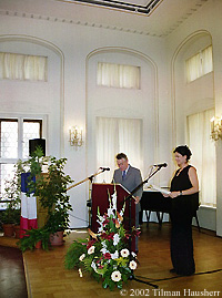 Alain Vivien Leipzig Award Ceremony 2002 Photo � 2002 Tilman Hausherr